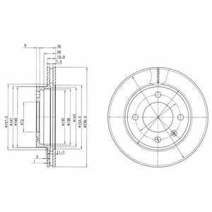 Тормозной диск DELPHI BG2273 - изображение
