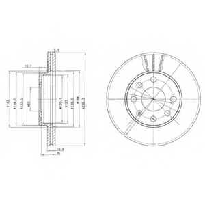 Тормозной диск DELPHI BG2278 - изображение