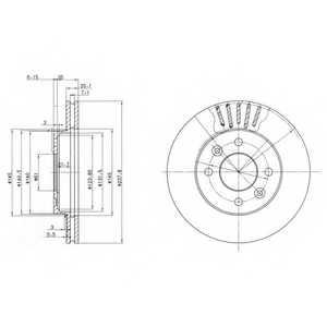 Тормозной диск DELPHI BG2282 - изображение