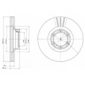Тормозной диск DELPHI BG2284 - изображение