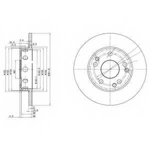 Тормозной диск DELPHI BG2288 - изображение