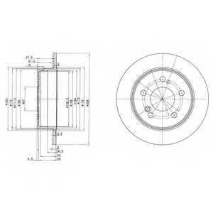 Тормозной диск DELPHI BG2291 - изображение