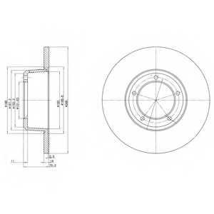 Тормозной диск DELPHI BG2297 - изображение