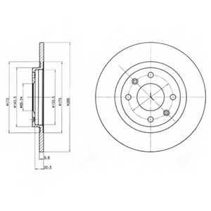 Тормозной диск DELPHI BG2308 - изображение