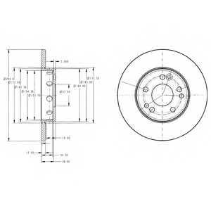 Тормозной диск DELPHI BG2314 - изображение