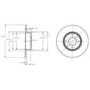 Тормозной диск DELPHI BG2322 - изображение
