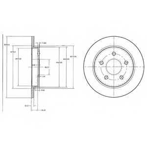 Тормозной диск DELPHI BG2332 - изображение