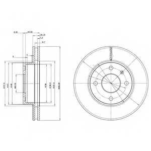 Тормозной диск DELPHI BG2339 - изображение