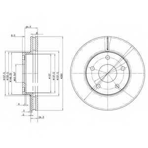 Тормозной диск DELPHI BG2346 - изображение