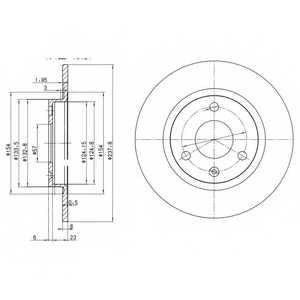 Тормозной диск DELPHI BG2355 - изображение