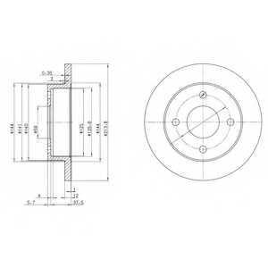 Тормозной диск DELPHI BG2357 - изображение