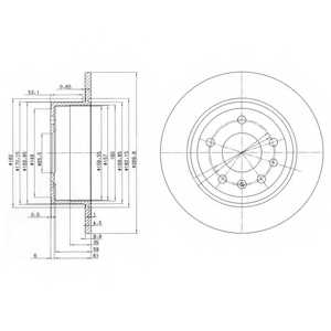 Тормозной диск DELPHI BG2381 - изображение