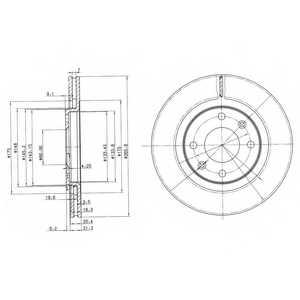 Тормозной диск DELPHI BG2387 - изображение