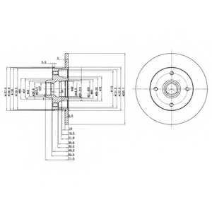 Тормозной диск DELPHI BG2389 - изображение