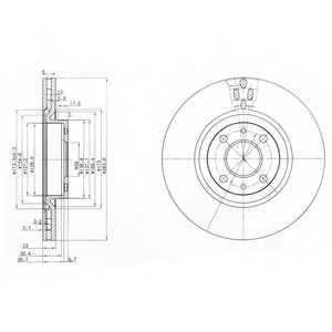 Тормозной диск DELPHI BG2407 - изображение