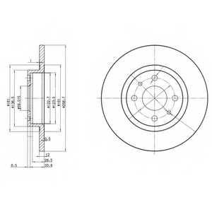 Тормозной диск DELPHI BG2411 - изображение