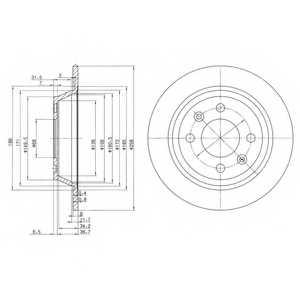Тормозной диск DELPHI BG2420 - изображение