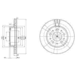 Тормозной диск DELPHI BG2425 - изображение