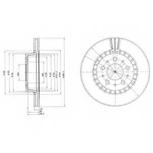 Тормозной диск DELPHI BG2426 - изображение
