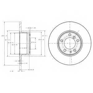 Тормозной диск DELPHI BG2430 - изображение