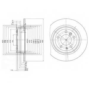 Тормозной диск DELPHI BG2431 - изображение