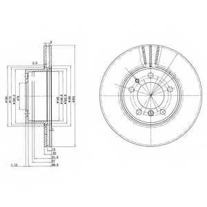 Тормозной диск DELPHI BG2433 - изображение