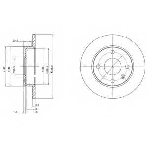 Тормозной диск DELPHI BG2439 - изображение