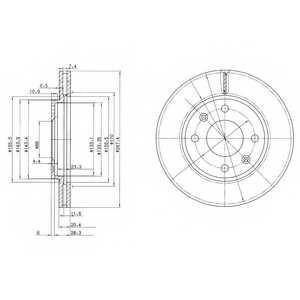 Тормозной диск DELPHI BG2444 - изображение