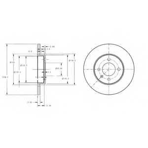 Тормозной диск DELPHI BG2454 - изображение