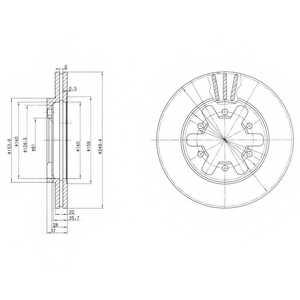 Тормозной диск DELPHI BG2457 - изображение