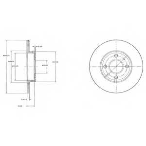 Тормозной диск DELPHI BG2458 - изображение