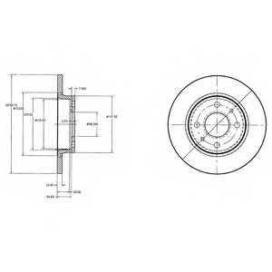 Тормозной диск DELPHI BG2466 - изображение