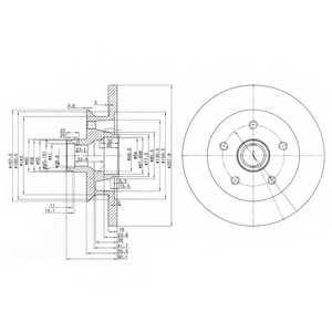 Тормозной диск DELPHI BG2468 - изображение