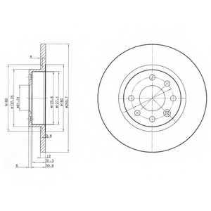 Тормозной диск DELPHI BG2496 - изображение