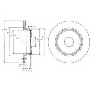 Тормозной диск DELPHI BG2510 - изображение