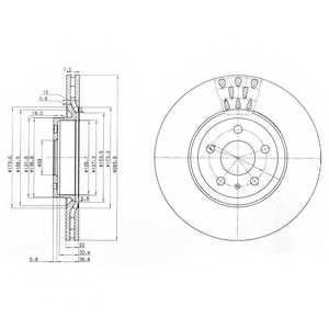 Тормозной диск DELPHI BG2512 - изображение