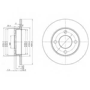 Тормозной диск DELPHI BG2517 - изображение