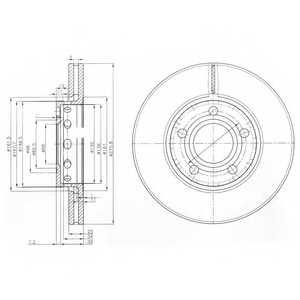 Тормозной диск DELPHI BG2518 - изображение