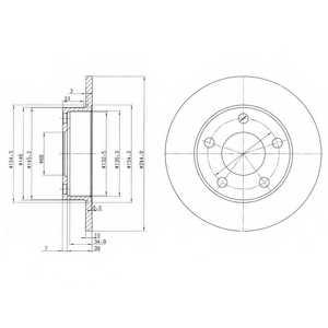 Тормозной диск DELPHI BG2520 - изображение