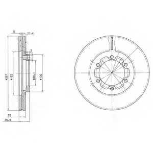 Тормозной диск DELPHI BG2524 - изображение