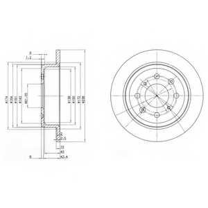 Тормозной диск DELPHI BG2538 - изображение