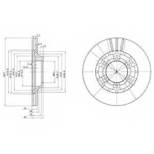 Тормозной диск DELPHI BG2561 - изображение