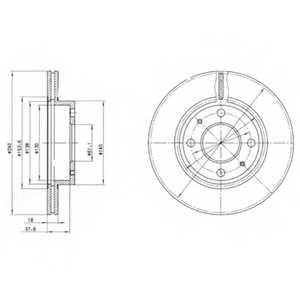 Тормозной диск DELPHI BG2565 - изображение