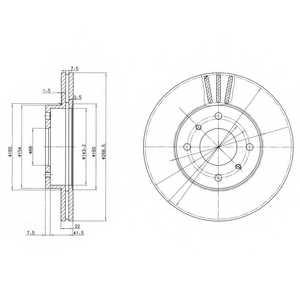 Тормозной диск DELPHI BG2567 - изображение