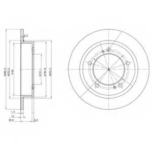 Тормозной диск DELPHI BG2584 - изображение