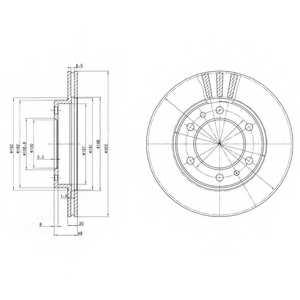 Тормозной диск DELPHI BG2591 - изображение
