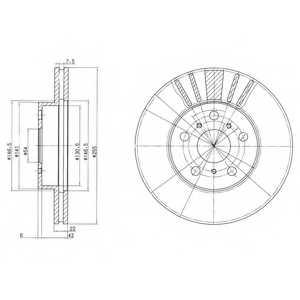 Тормозной диск DELPHI BG2596 - изображение