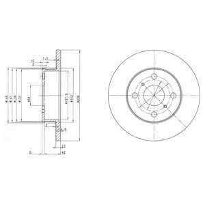 Тормозной диск DELPHI BG2597 - изображение