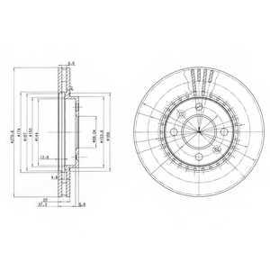 Тормозной диск DELPHI BG2619 - изображение