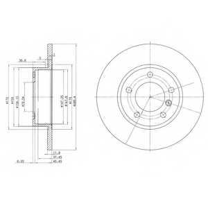 Тормозной диск DELPHI BG2622 - изображение
